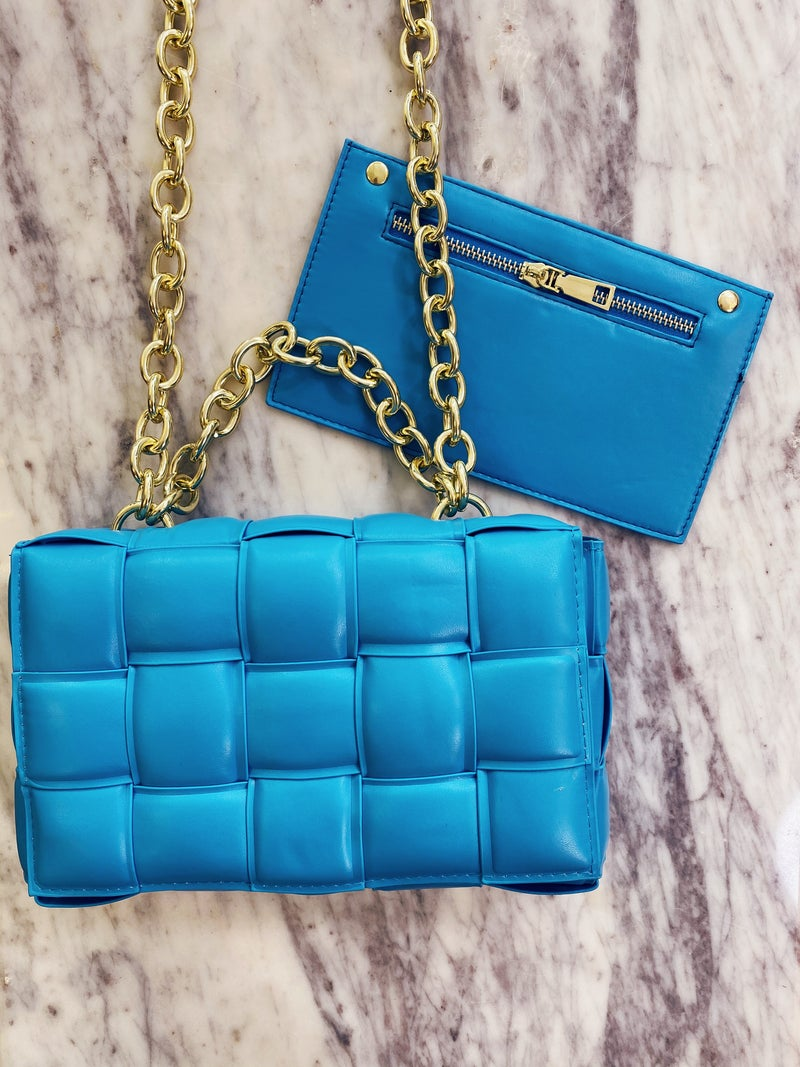 Here And There Purse - Blue