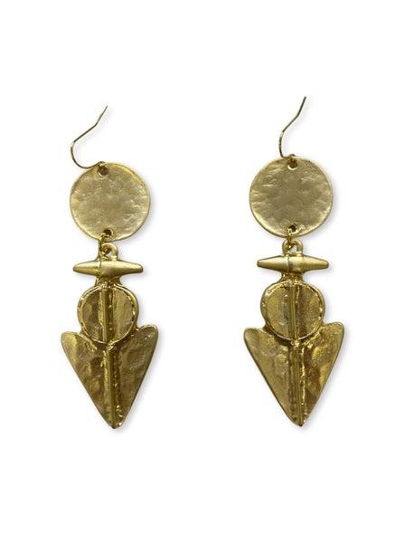 Jennifer Thames Aztec Earrings