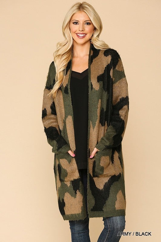 Covered In Camo Cardigan