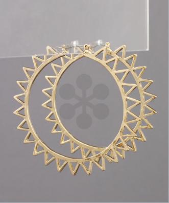 Crown of Glory Earrings - Gold