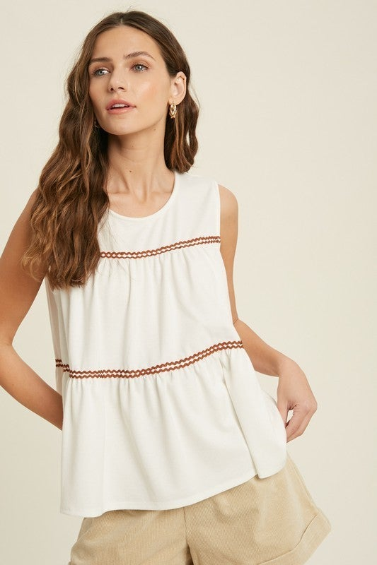 Try It On Sleeveless Top - Ivory