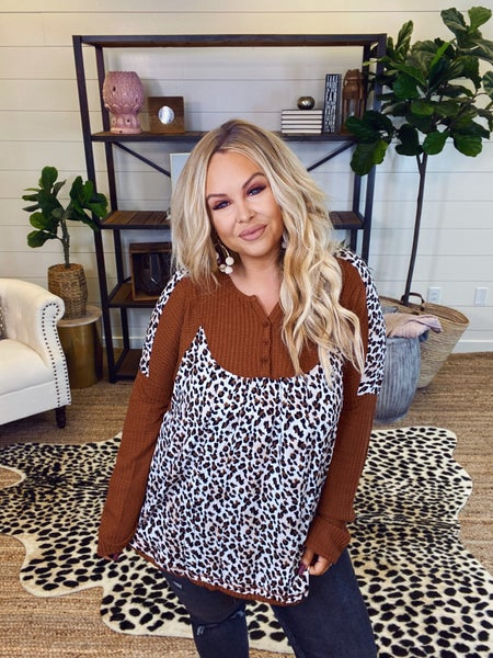 Cheetah & Waffles Top