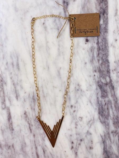 Jennifer Thames On Point Necklace - Gold