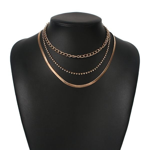 Multi Layer Golden Necklace