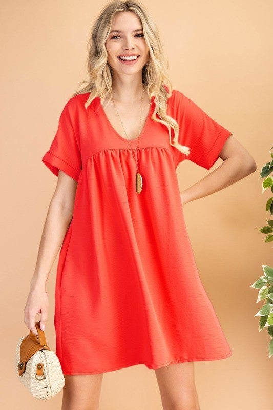 Love Yourself Dress - Coral