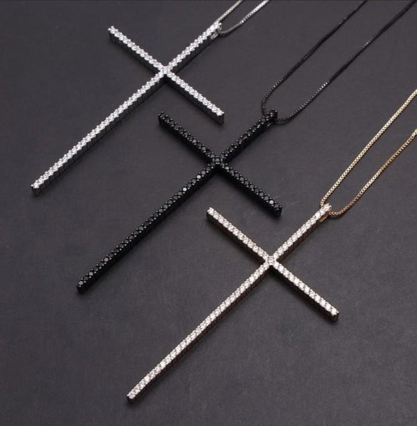Gold cross short necklace