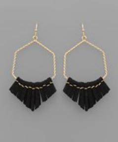 Tassel Me Up Earrings - Black/Gold