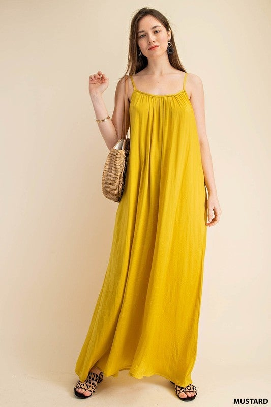 In The Sun Sleeveless Dress - Mustard