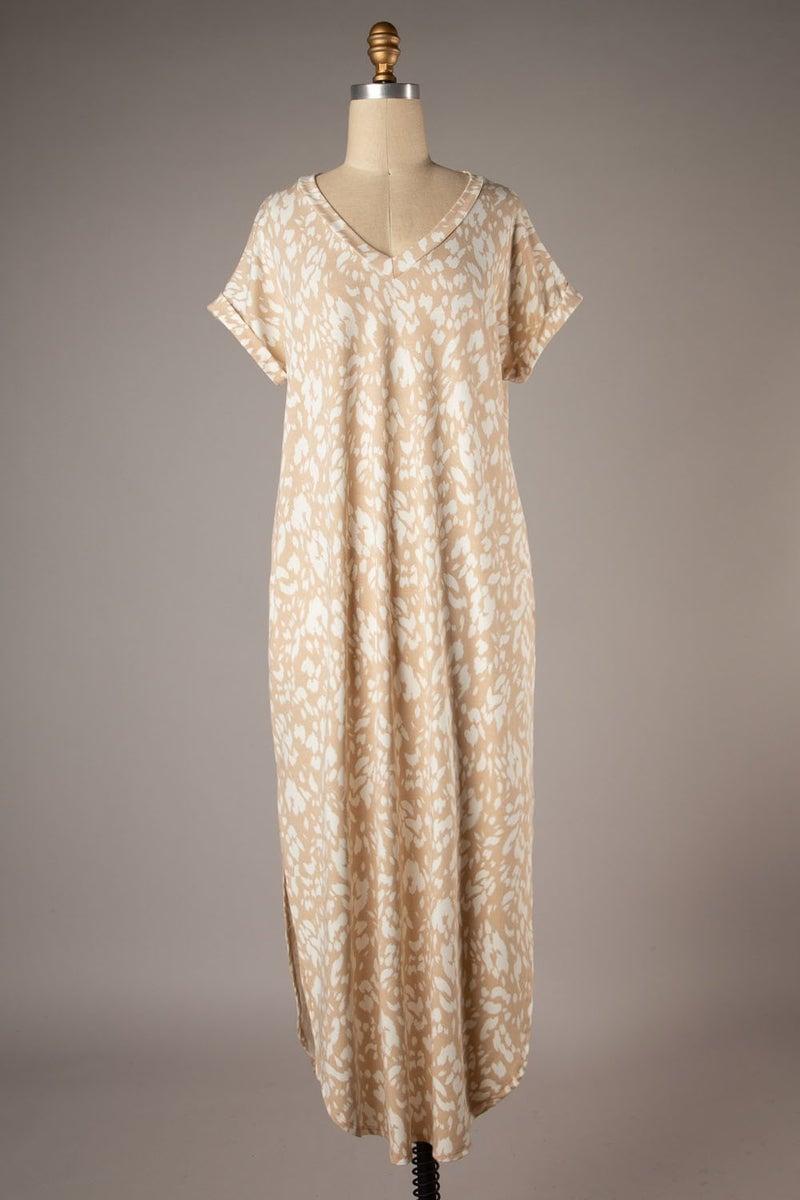 Coastal Breeze Dress - Taupe