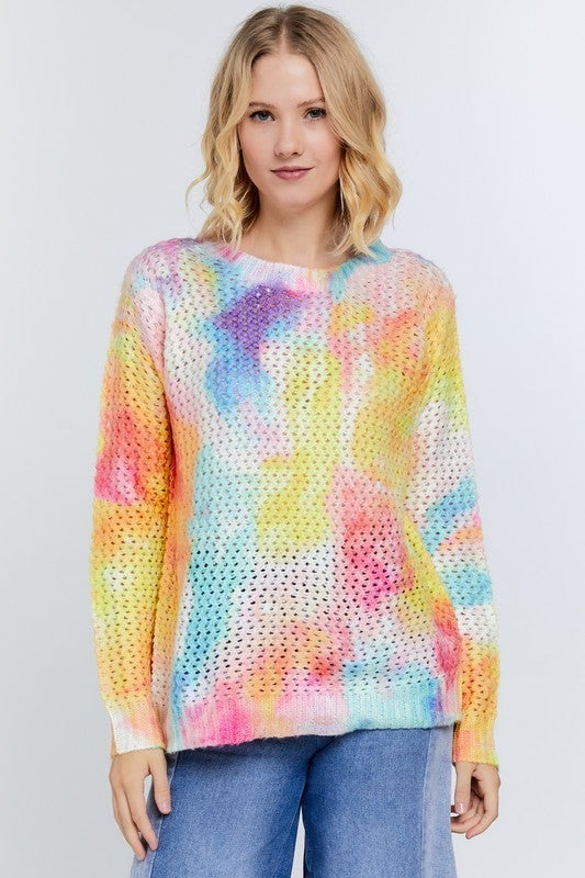 Reg/Plus Dazzling Rainbow Sweater Top