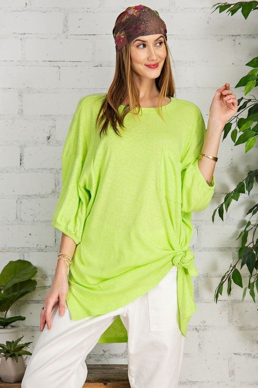 Standing Out Tunic - Lime