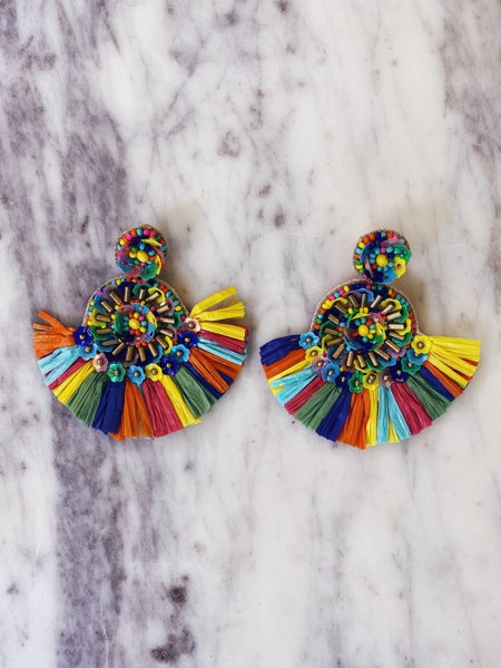 Just About Us Earrings-Multi
