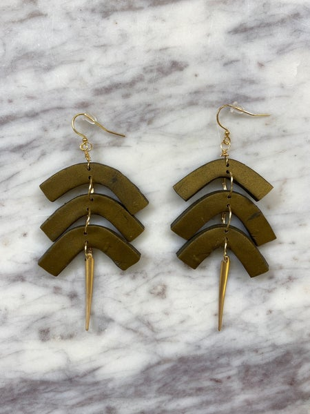 Chic'd Out Fan Favorite Earrings - Bronze