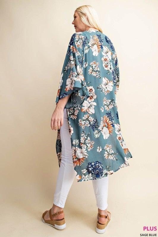 Flow WIth Me Floral Kimono