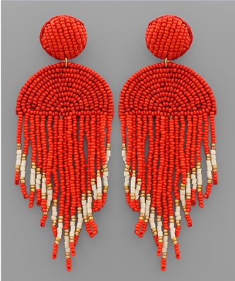 Now You See Me Earrings - Red