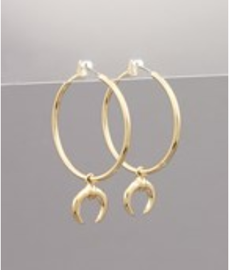 Bull By The Thorn Earrings - Gold