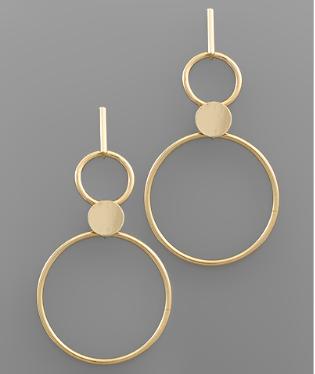 Lovely Geometric Circle Earrings