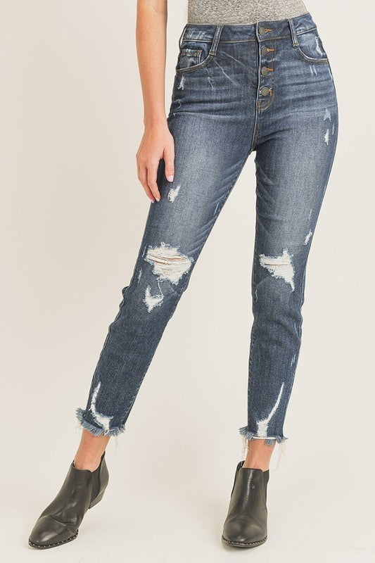 We Go Together Distressed Jeans