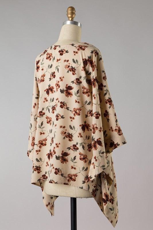 Fall Feels Floral Kimono