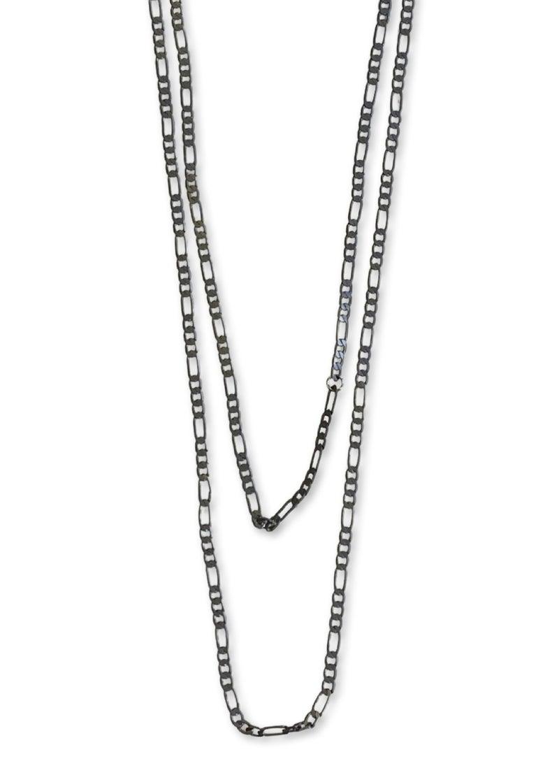 Jennifer Thames Long Gunmetal Necklace