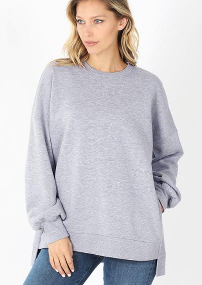 Cuddle Time Sweater - Heather Gray