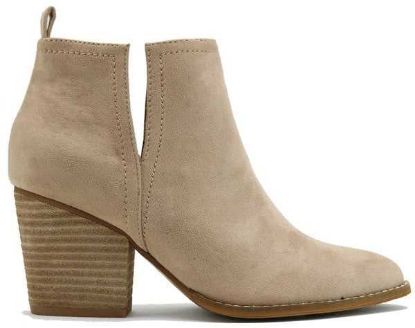 Keep Them Coming Booties - Taupe