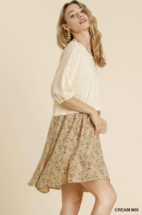 Precious Intrigue Dress - Cream Mix