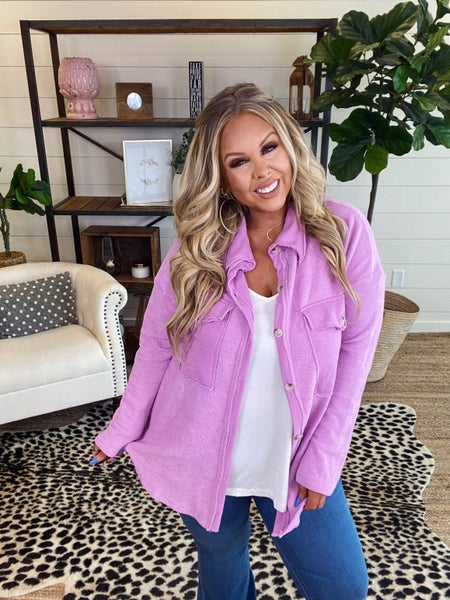 Not Your Brothers Oversized Top - Lavender