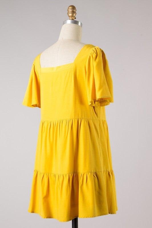 The Way Love Goes Dress - Yellow