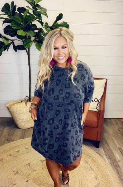 Ramona Leopard Dress - Ash