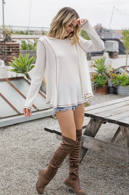 Think Outside The Box Top - Ivory