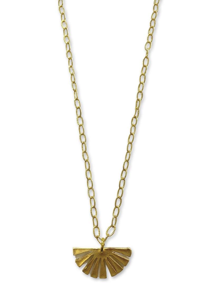Jennifer Thames Matte Sunburst Necklace