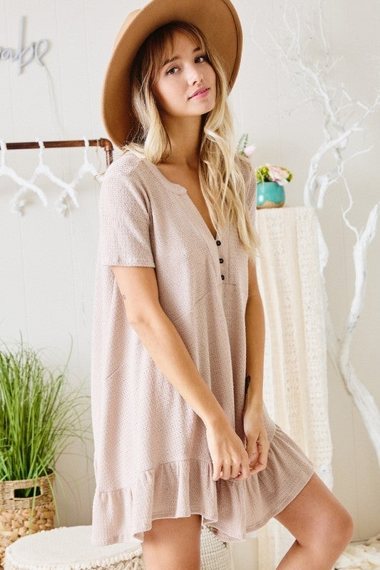 Dream Inspired Tunic Dress - Taupe
