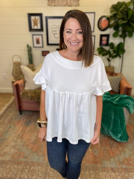You're A Wild One Tunic Top - White