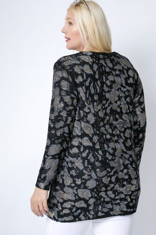 PLUS/REG Turning Wild Sweater - Black