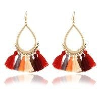 Multi-Colored Tassel Earrings