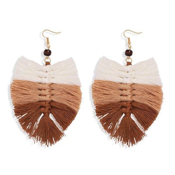 Your Biggest Fan Earrings - Khaki