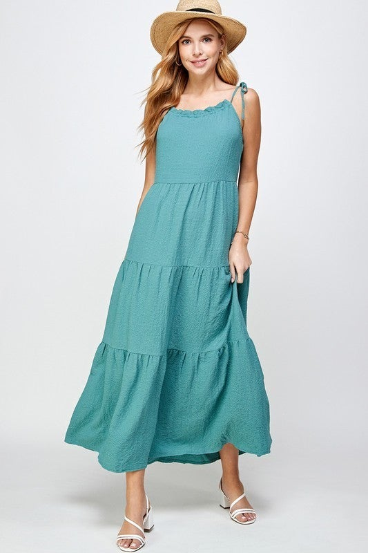 Dance The Day Away Dress - Washed Green