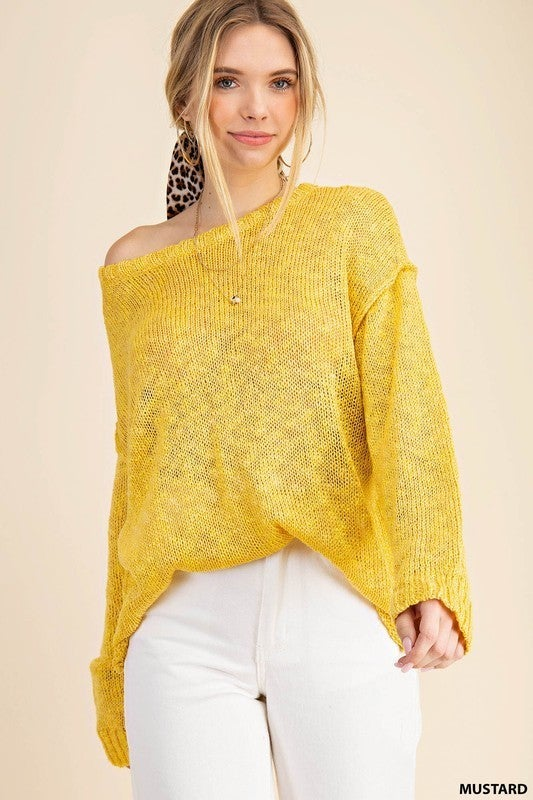 REG/PLUS Twinkle Of An Eye Top-Mustard