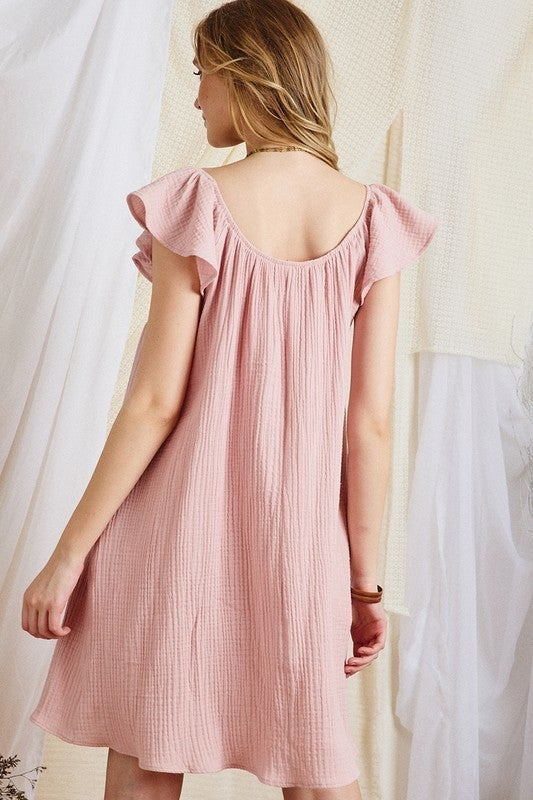 Spring Days Dress - Dusty Pink