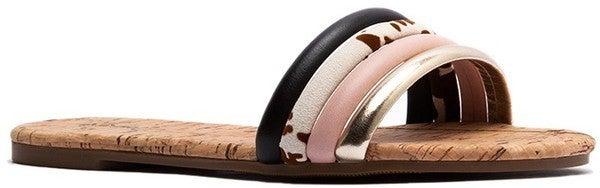 Moving Forward Sandals - Black