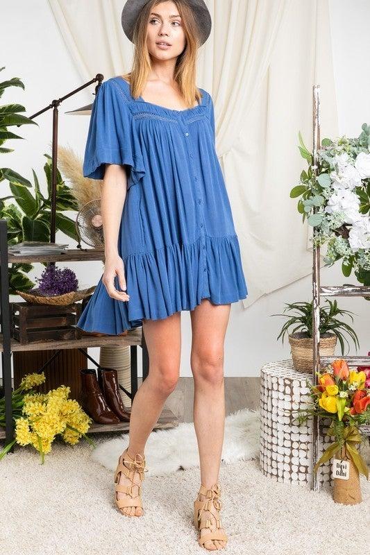 Sunshine Fun Dress - Blue