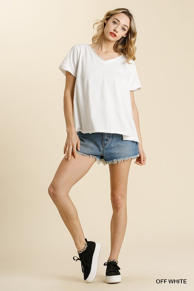 Hello New You Heathered Top - Off White