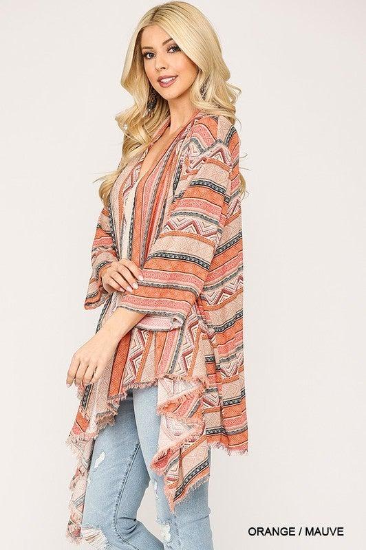 Works Like A Charm Kimono - Orange