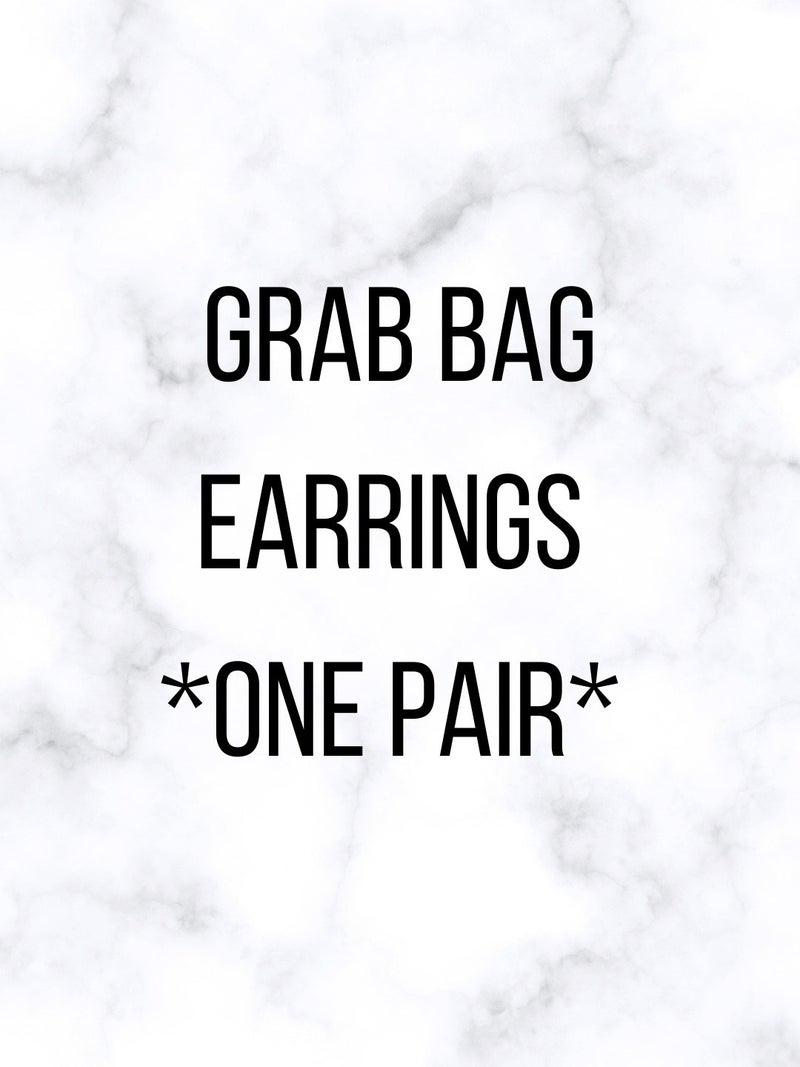 Grab Bag Style Earrings - One Pair  *FINAL SALE*