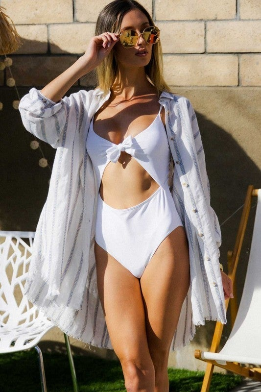 PLUS/REG Poolside Tunic Top - White