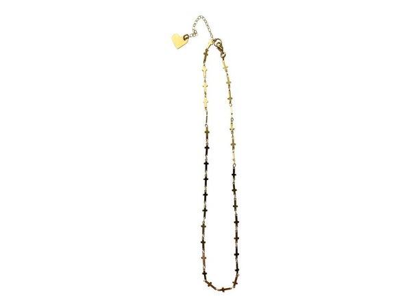 Love, Poppy Cross Short Necklace