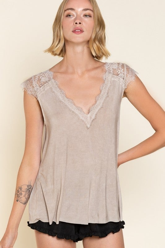 Love And Light Top - Taupe