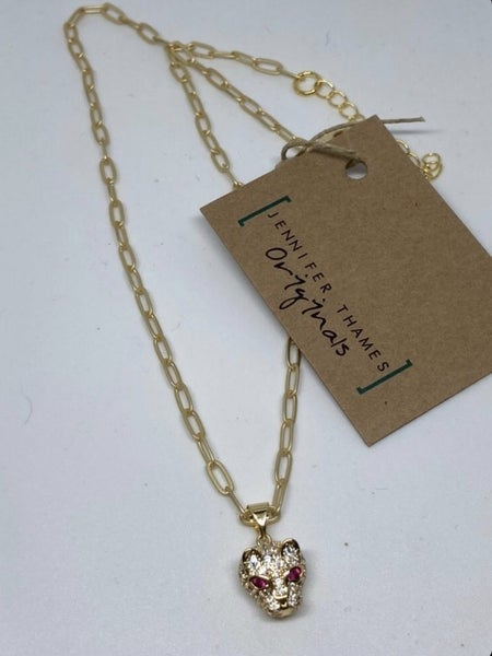 Jennifer Thames Panther Necklace