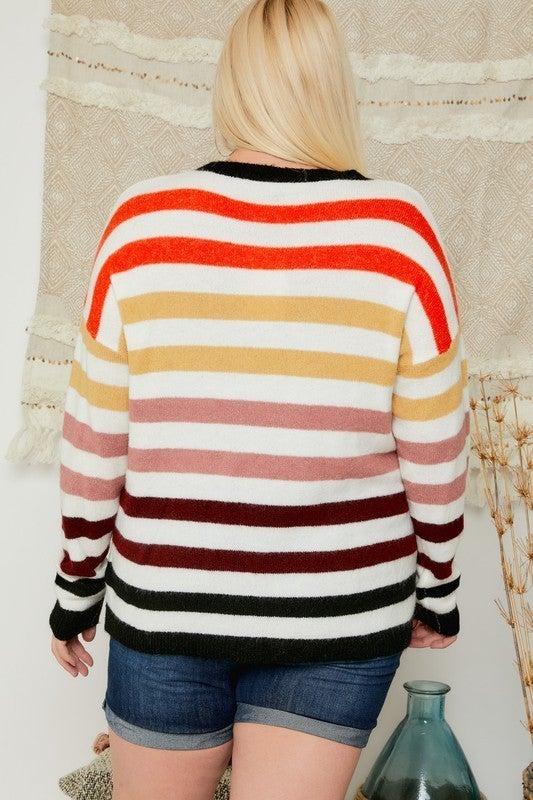 Reg/Plus Candy Stripes Sweater
